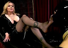 Latex Dominatrix Julia Ann Trains Cock Whore Tony Orlando