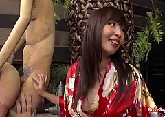 Giant black dick rips open the flesh of an adventurous Asian.