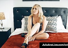 Dick Starved Milf Julia Ann Mouth &amp_ Pussy Fucks Porn Fan!